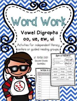 Word Work: Vowel Digraphs oo, ue, ew, and ui | Daily 5 | Vowel