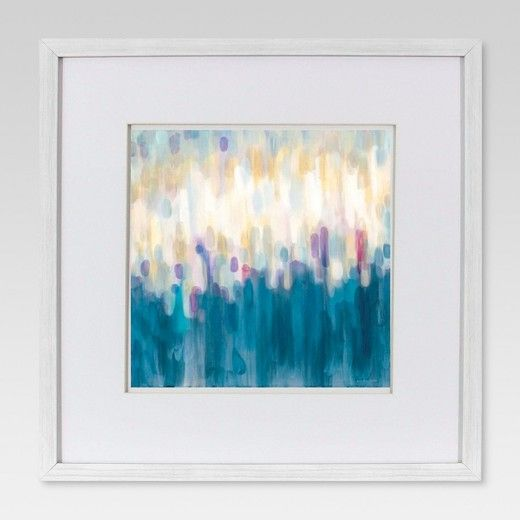 Framed Abstract Brushstroke Wall Art 18x18 - Project 62™ : Target ...