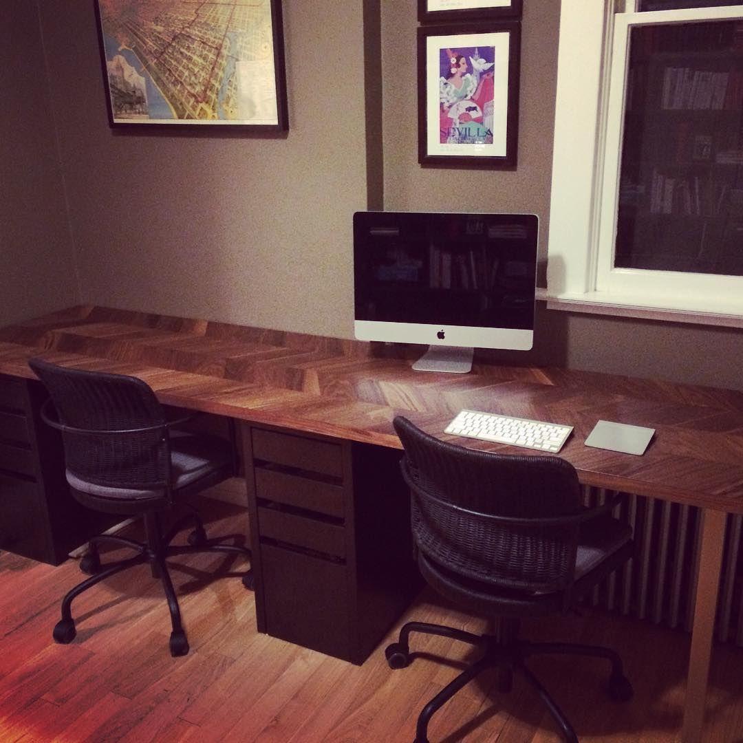 Great Diy Desks With Ikea Countertops And Legs Diy Desk Ikea