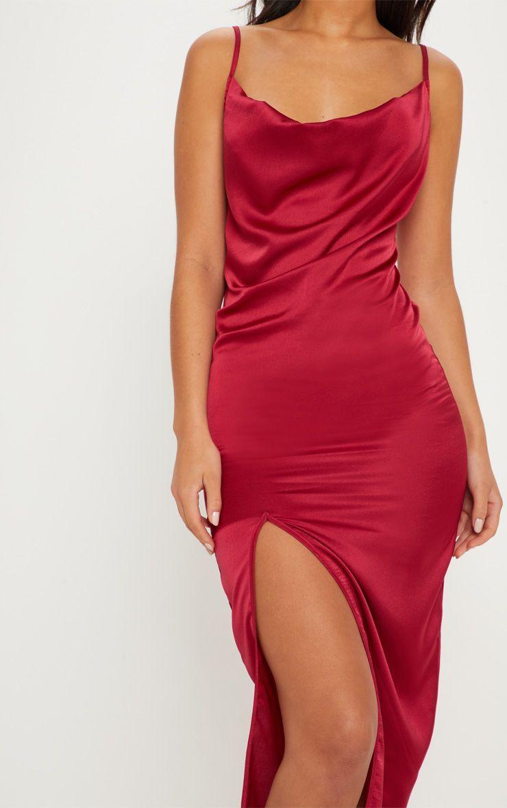 387f53df6d0f Image Satin Midi Dress, Rose Dress, Neckline, Formal Dresses, Satin  Material,