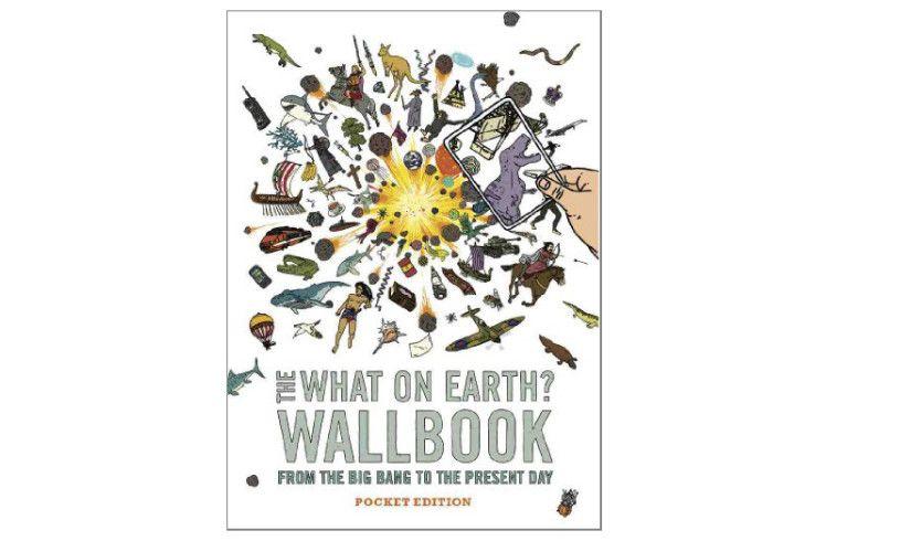 Mini wallbook history timeline with quiz presents