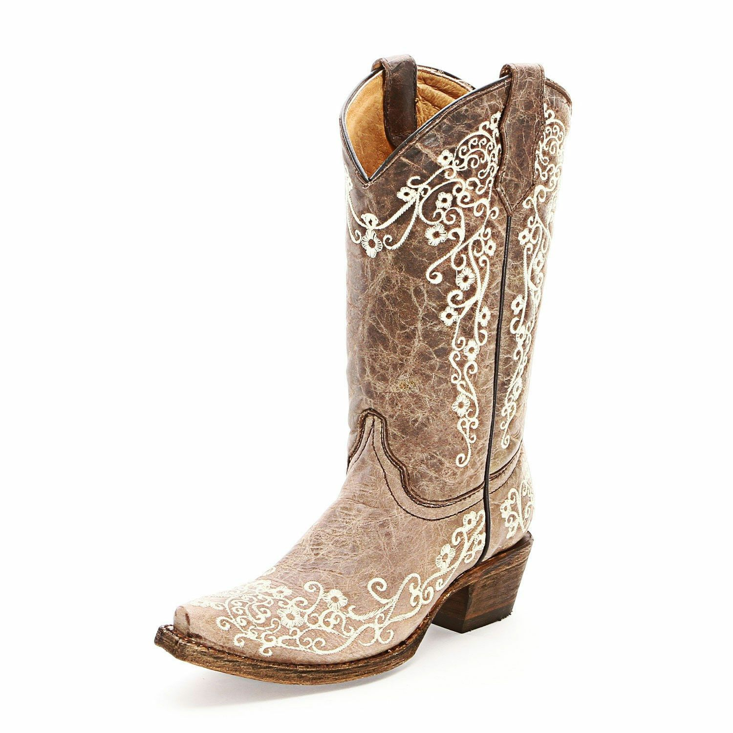 62064d1c240 KIDS YOUTH CORRAL COWGIRL BOOTS! NIB! A2773-FLORAL EMBROIDERED-FREE ...