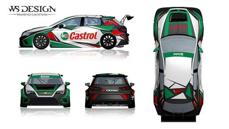 Castrol Seat Leon STC livery | Race Car Livery | Art cars