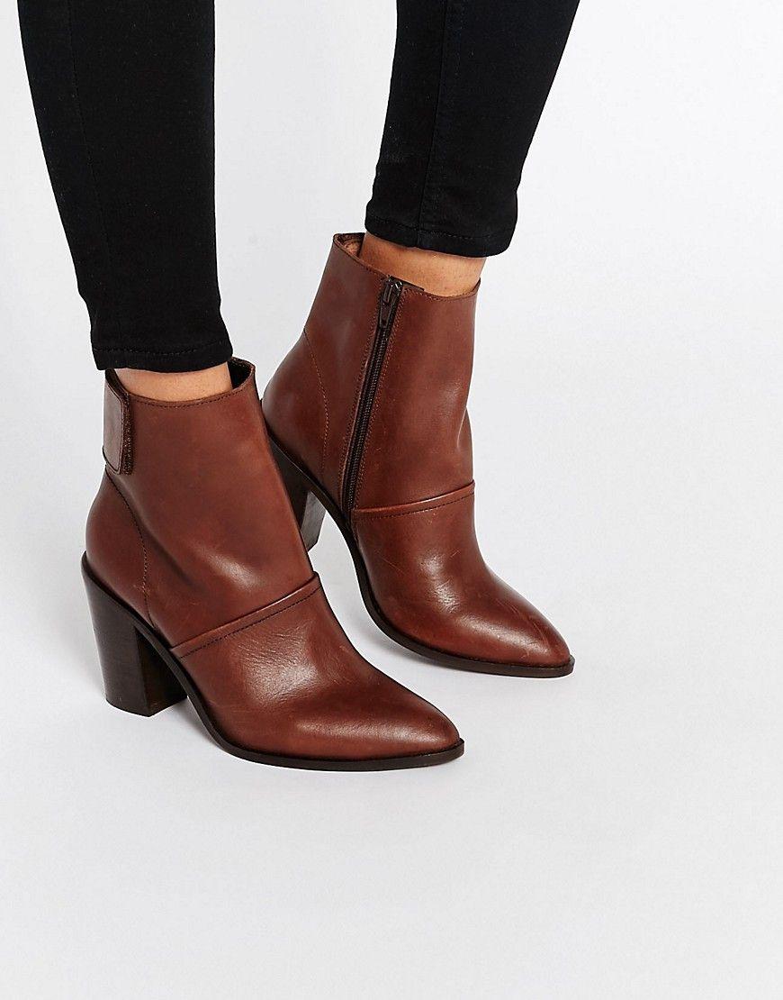 2505a009712 EFFIE – Ankle-Boots aus Leder | Shoes | Leather ankle boots, Boots ...