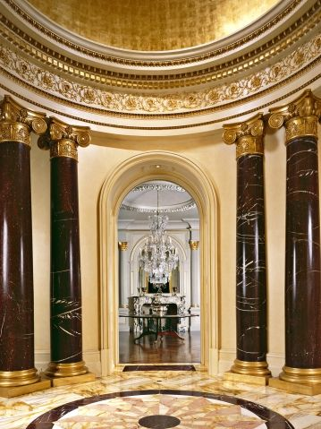 Rotunda In A BeauxArts Mansion Note Rotunda Concept Indoor And Classy Beaux Arts Interior Design