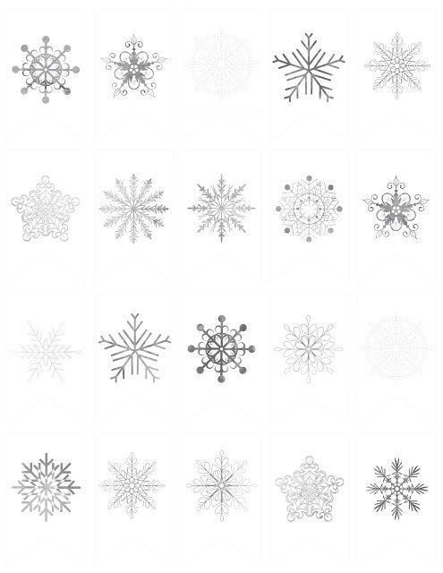 Free Diy Snowflake Mini Banner Winter Time Snowflakes Snow