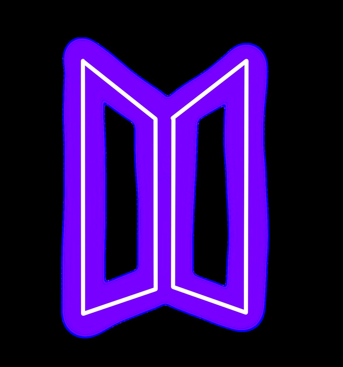 Bts Btslogo Kpop Kpoplogo Neon Purple Freetoedit Bts Backgrounds Image Stickers Neon Purple