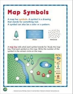 Map Symbols Grade 2 Map Skills Map Symbols Map Skills Maps For Kids