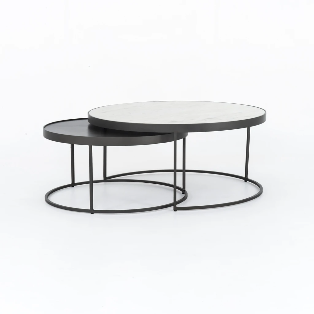 Evelyn Round Nesting Coffee Table Nesting Coffee Tables Round Nesting Coffee Tables Coffee Table [ 1000 x 1000 Pixel ]