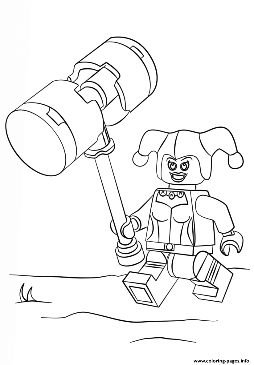 Print lego harley quinn coloring pages | Coloring 4 Kids: DC Super ...