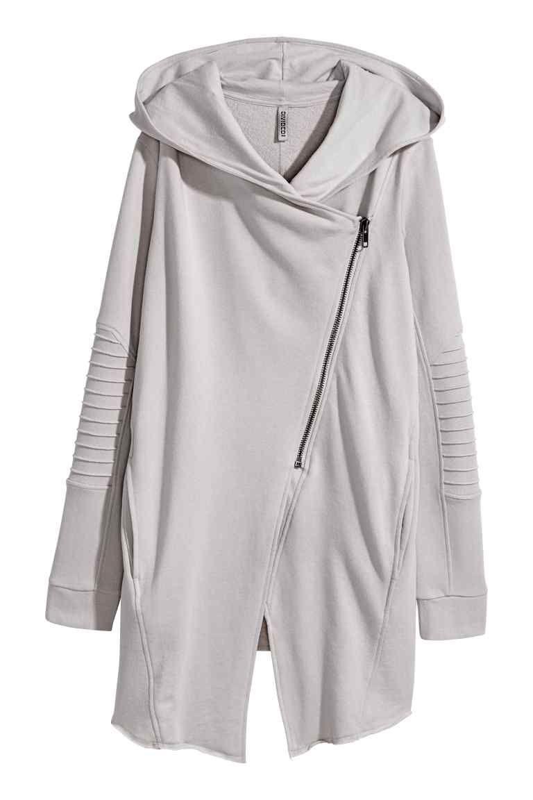 Hooded sweatshirt cardigan | Gray lady, Sweatshirt and Gray