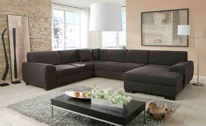 A Huge U Form Couch For The Living Room