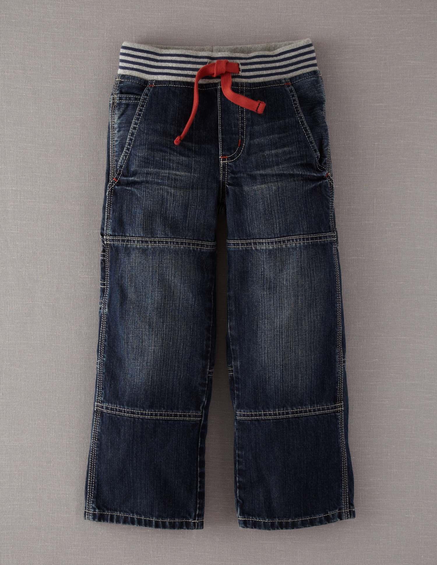 Rib Waist Carpenters Carpenter Jeans Blue Denim Mini Boden