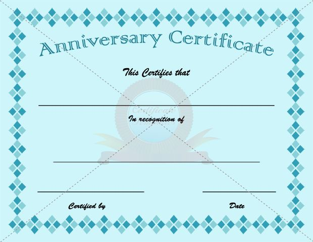 Anniversary Certificate Template – Anniversary Certificate Template