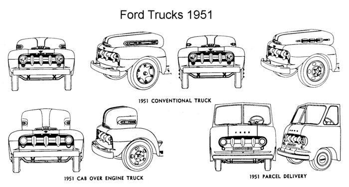 1951 ford trucks