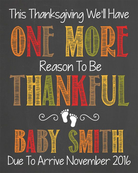 thanksgiving pregnancy announcement chalkboard printable