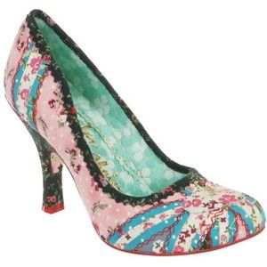 Irregular Choice Women's Patty Heels - Multi £59.99 #pink #blue #pumps #union_jack
