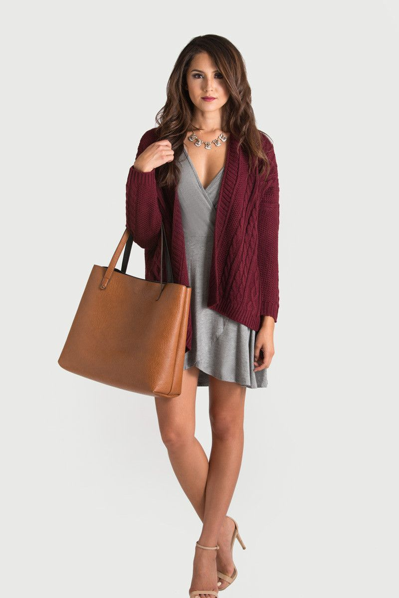 Cute Sweaters, Cute Cardigans, Fall Sweaters, Burgundy Sweater ...