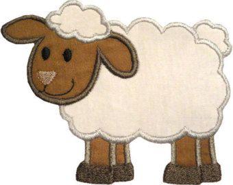 Lamb applique machine embroidery digital design sheep ewe baa farm