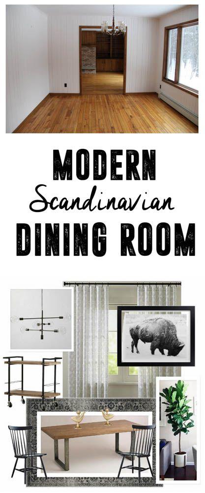 Warm And Cozy Dining Room Moodboard: Scandinavian Modern Dining Room