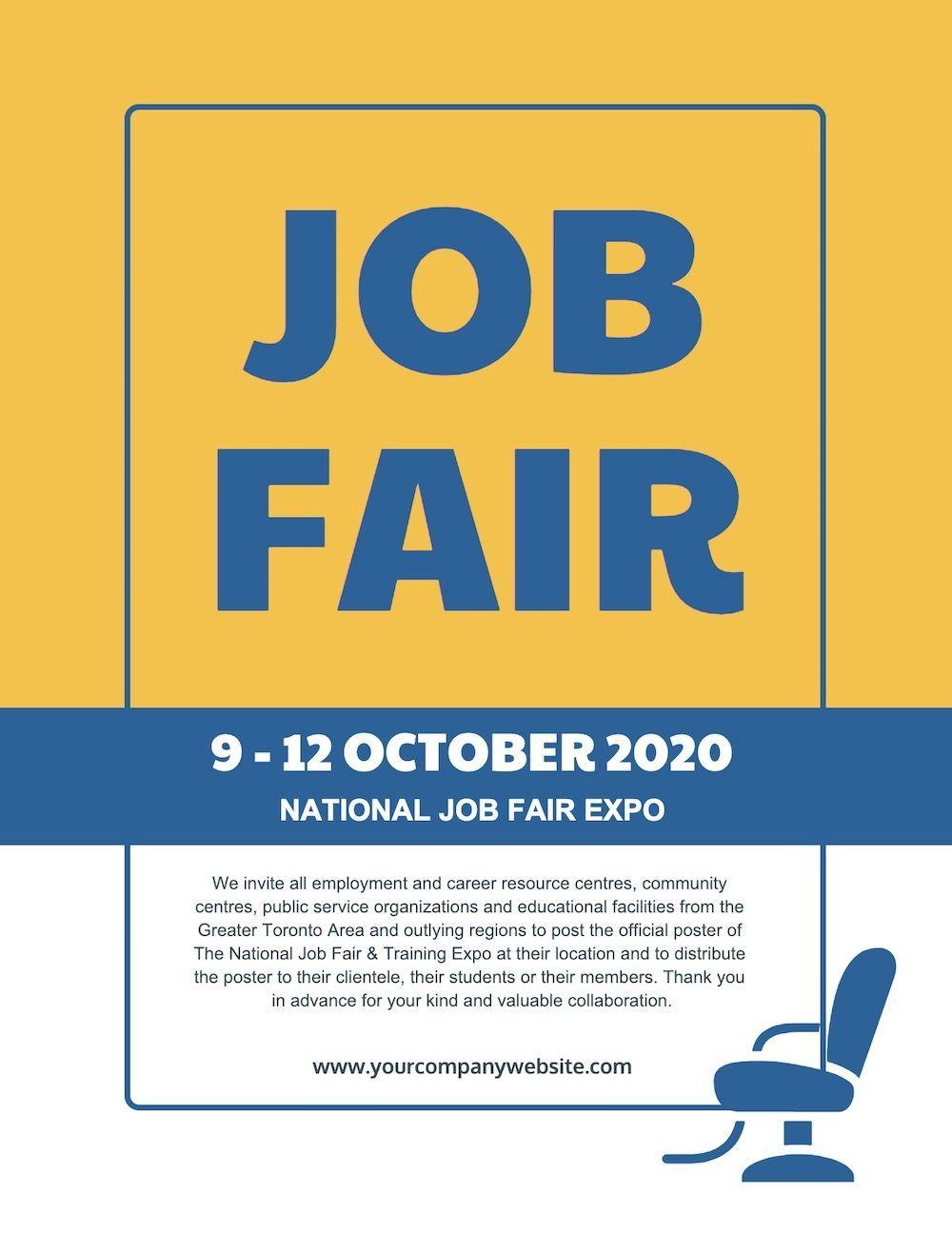 Yellow Job Fair Poster Example Template 1 Job Fair Event Flyer Templates Flyer Template Job fair flyer template free