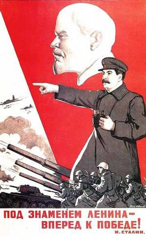 000 Under Lenin's banner, forward to victory! propoganda