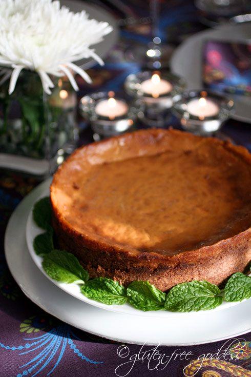 Gluten-free pumpkin cheesecake- delicious and vegan. #glutenfree #pumpkin #baking #vegan