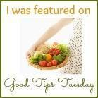 Good Tips Tuesday 3/24. A fun link up for all of your recipes, crafts and projects. Come on over and link up the new and the old!