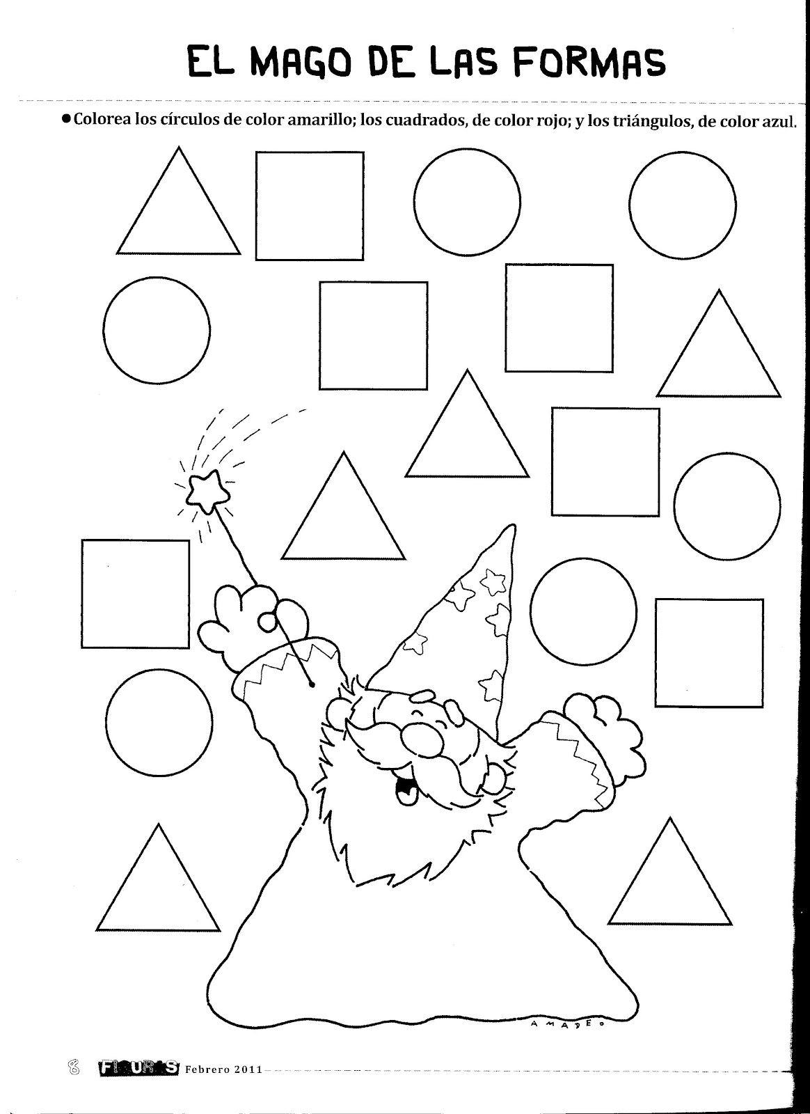Resultado De Imagen Para Fichas Del Triangulo 3 Anos Figuras