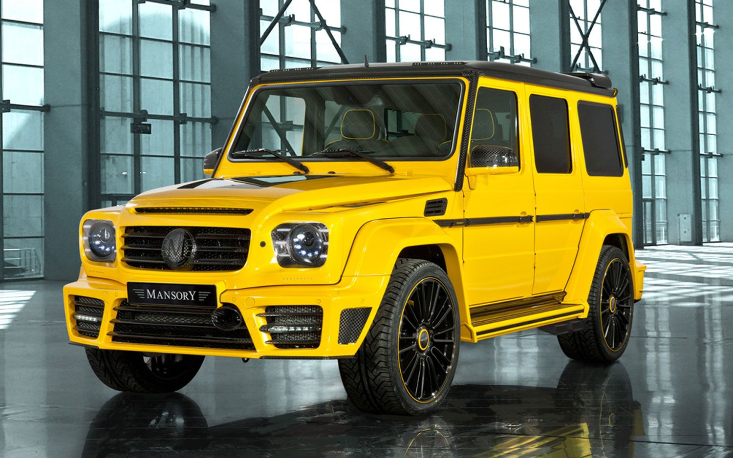 Mansory S Magic Yellow Mercedes Joins Four Other Modified Geneva