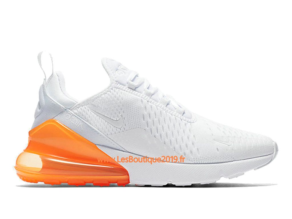 Nike Air Max 270 Blanc Orange Chaussure Officiel Prix Pas