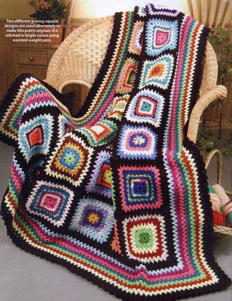 Vistoso Patrón De Crochet Afghan Sampler Ideas - Ideas de Patrones ...