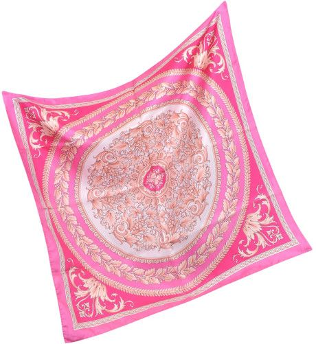 f63109da pink silk scarf | Versace Floral Silk Square Scarf in Pink (floral ...