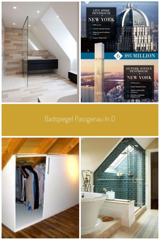 Badspiegel Passgenau In Die Dachschrge Integriert Ohne Beleuchtung Badspiegel Beleuchtung Dachschrag