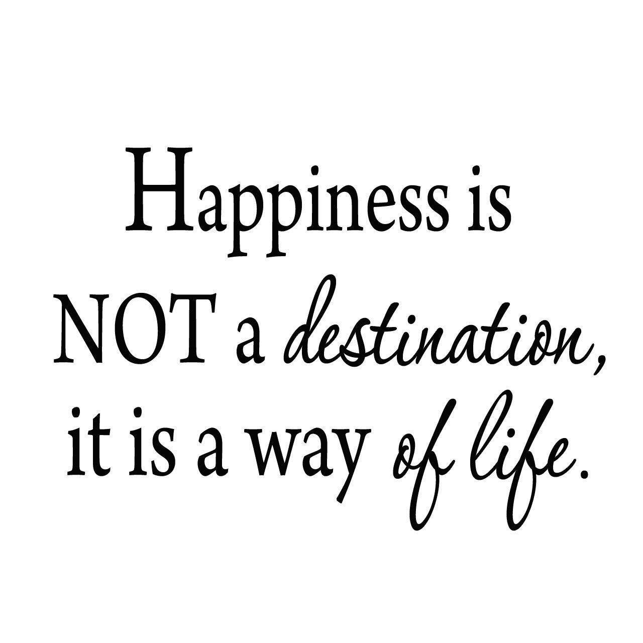 VWAQ Happiness Is Not a Destination, It Is a Way of Life