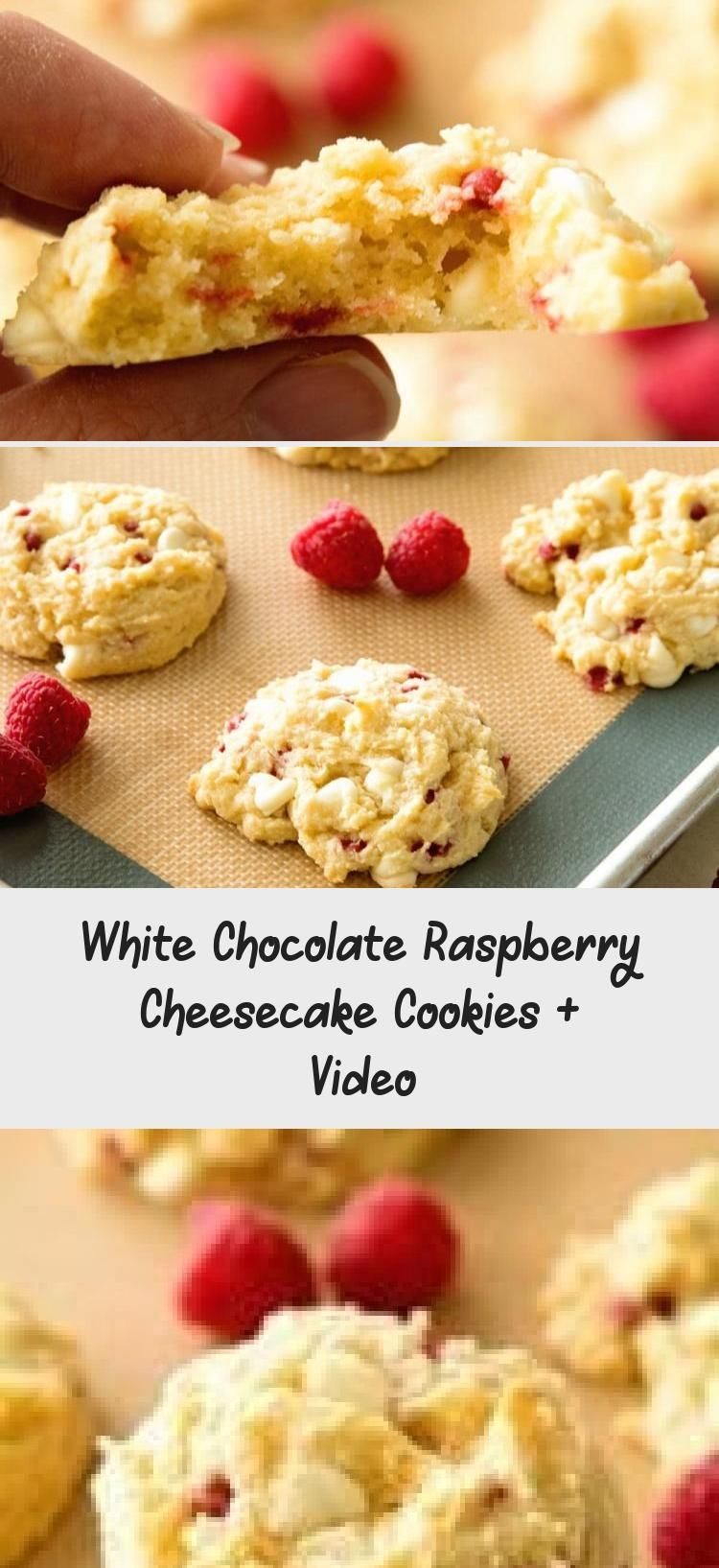 White Chocolate Raspberry Cheesecake Cookies + Video #whitechocolateraspberrycheesecake Delicious White Chocolate Raspberry Cheesecake Cookies are made with a muffin mix and delicious! They are Copycat Subway Cookies! I've even been told they are better than Subway's! #cookies #recipe via @julieseats #FoodandDrinkCookies #whitechocolateraspberrycheesecake