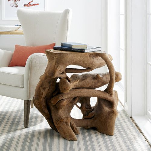 Teak Root Side Table In 2019 Lane Beach Side Coffee Table Table Table Furniture