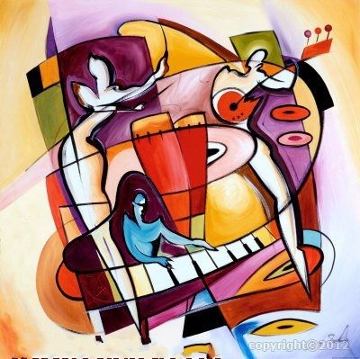 tableau design musique | Peinture design