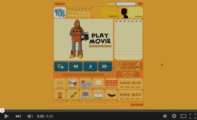 "This screencast shares a variety of ways teachers can use the free BrainPOP Jr. movie ""Nouns"" to help students understand different types of nouns."