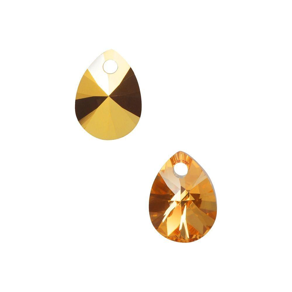 Swarovski Crystal, 6128 Mini Pear Pendants 8mm, 8 Pieces, Crystal