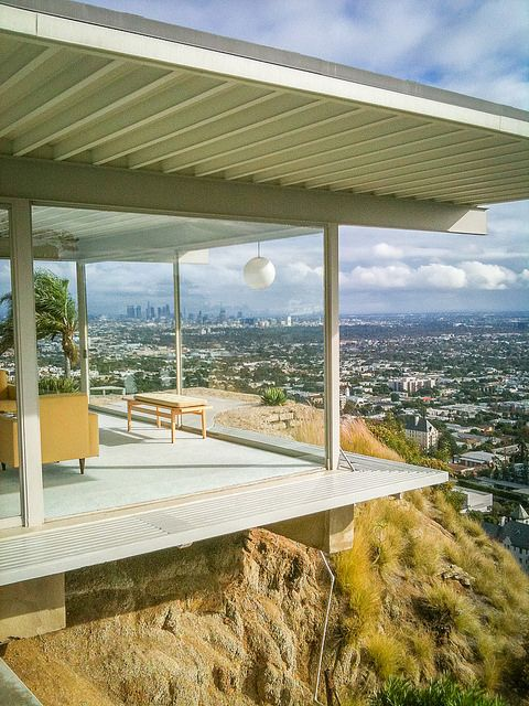 An Iconic View Of Los Angeles The Stahl House Ever In Transit Architecture Stahl House Case Study Houses