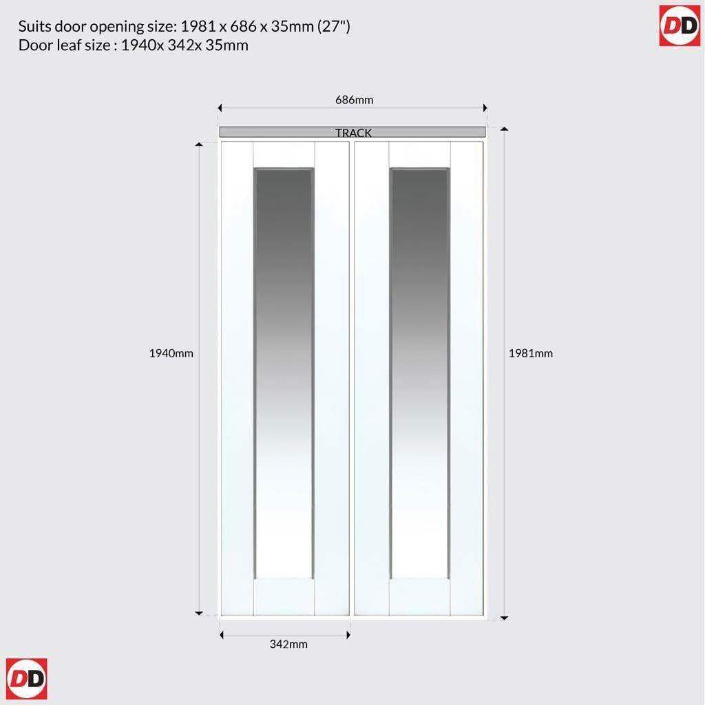 Shaker 1 Pane Glazed Bifold Door White Primed In 2020 Bifold Doors Door Fittings Bifold