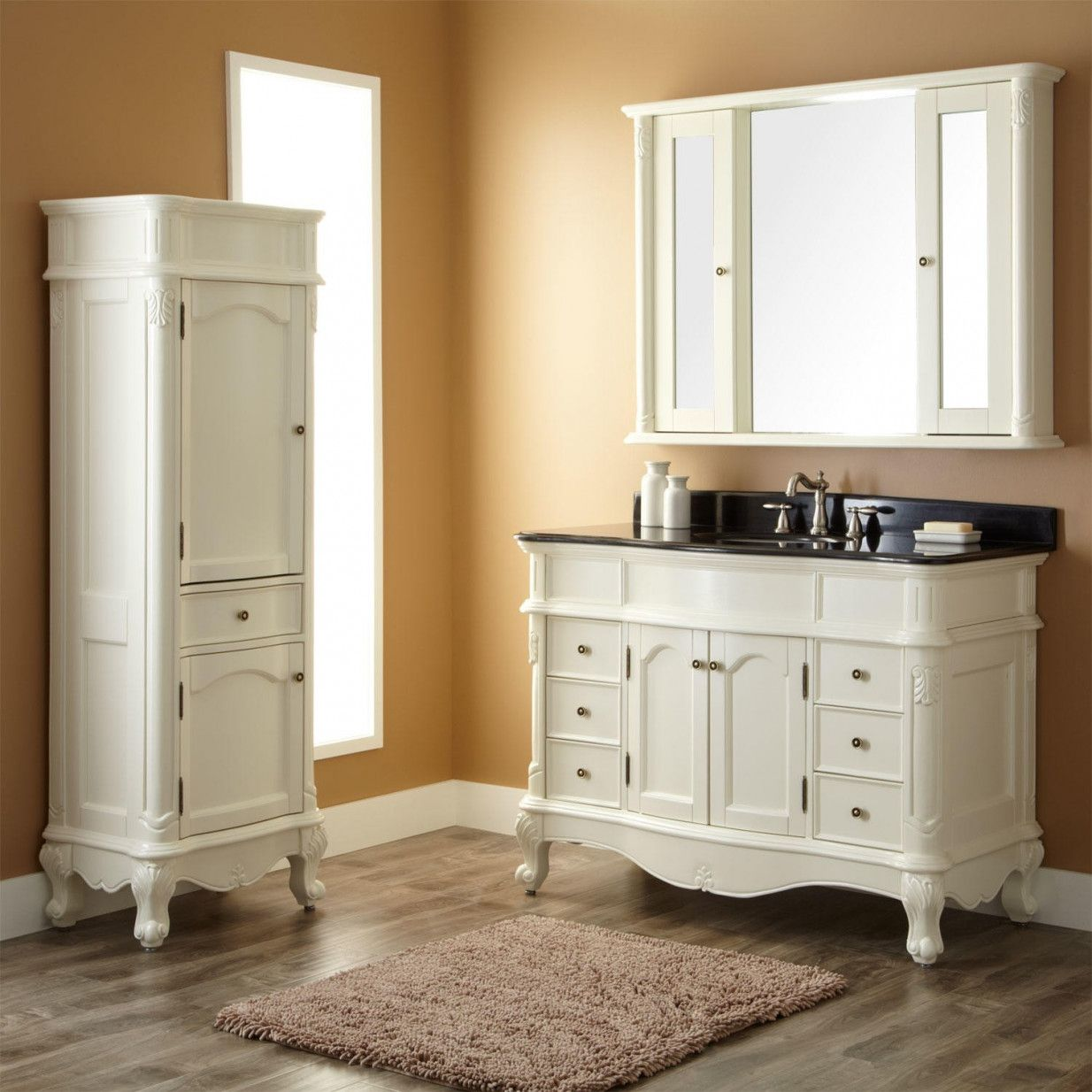 70 Bathroom Vanities And Linen Cabinet Sets Best Paint For