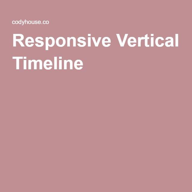 Responsive Vertical Timeline HTML ^^ Pinterest Timeline - best of blueprint css menu