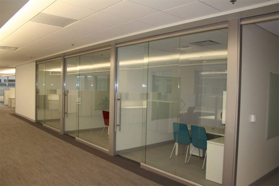 Commercial building panels systems replace conventional construction drywall with Interior glass partition systems
