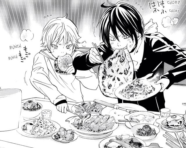 I Love That Yato Is Eating An Entire Pizza With Chopsticks