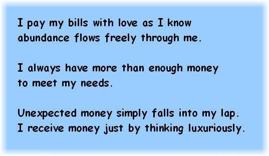 Positive Affirmations For Money Httpspiritualcoachmind