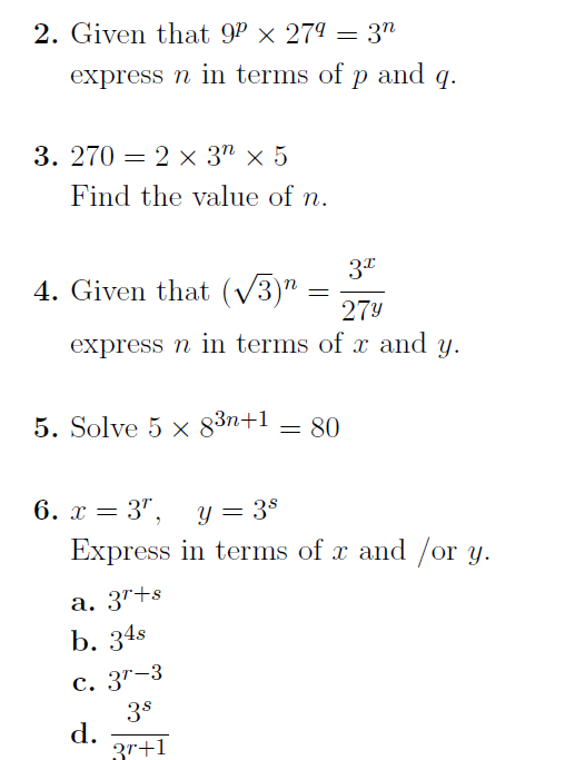 Indices (harder questions): A worksheet with harder questions on ...