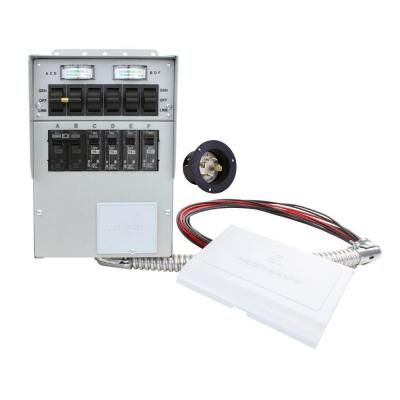 Reliance Controls 30 Amp 6 Circuit Manual Transfer Switch 306a The Home Depot In 2021 Transfer Switch Generator Transfer Switch Power Inlets
