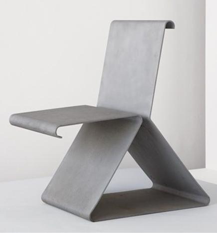 Francois Dallegret Bent Aluminum Chaise Ressort 1967
